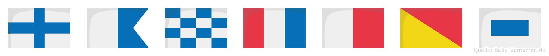 Xanthos im Flaggenalphabet