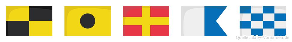Liran im Flaggenalphabet
