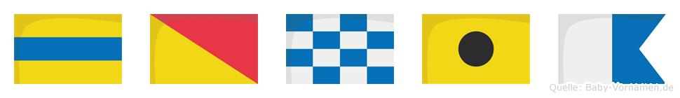 Donia im Flaggenalphabet