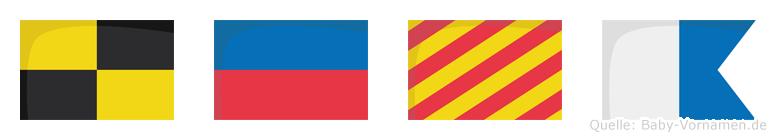 Leya im Flaggenalphabet