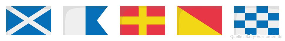 Maron im Flaggenalphabet