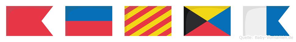 Beyza im Flaggenalphabet