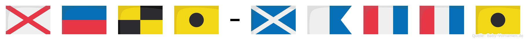 Veli-Matti im Flaggenalphabet