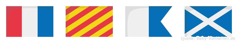 Tyam im Flaggenalphabet