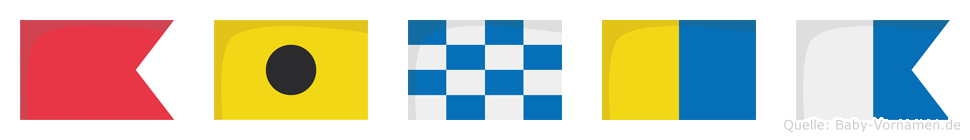 Binka im Flaggenalphabet