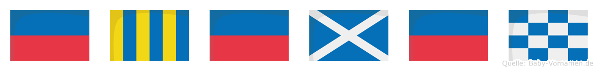 Egemen im Flaggenalphabet