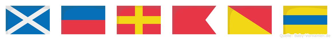 Merbod im Flaggenalphabet