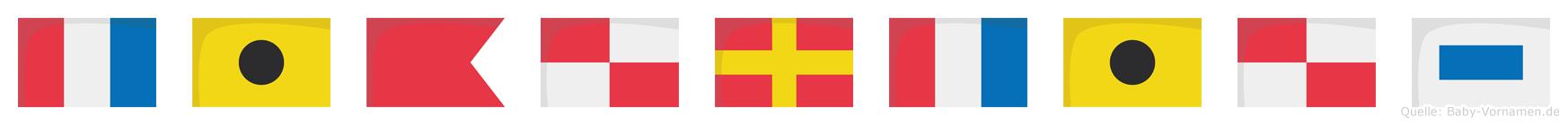 Tiburtius im Flaggenalphabet