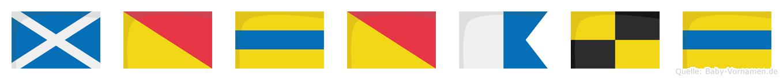Modoald im Flaggenalphabet
