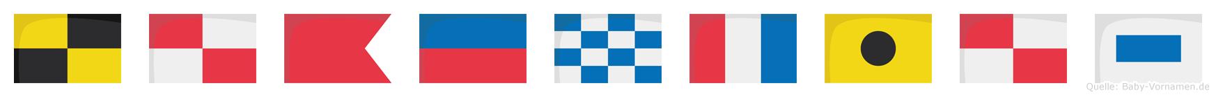 Lubentius im Flaggenalphabet