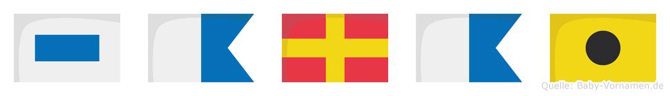Sarai im Flaggenalphabet