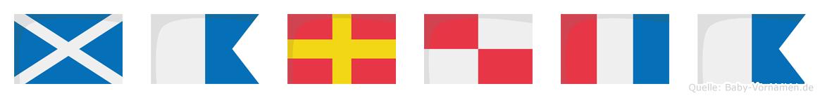 Maruta im Flaggenalphabet