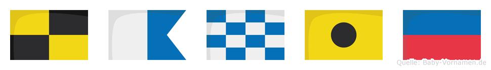 Lanie im Flaggenalphabet