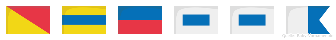 Odessa im Flaggenalphabet