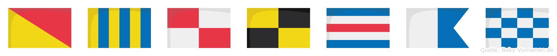 Ogulcan im Flaggenalphabet