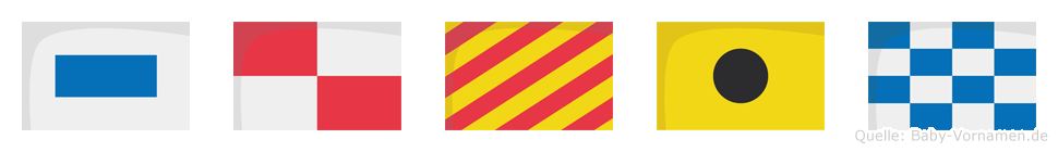 Suyin im Flaggenalphabet
