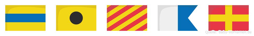 Diyar im Flaggenalphabet