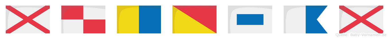 Vukosav im Flaggenalphabet