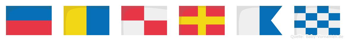Ekuran im Flaggenalphabet