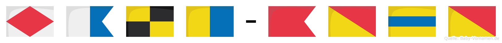 Falk-Bodo im Flaggenalphabet