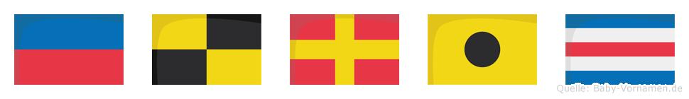 Elric im Flaggenalphabet