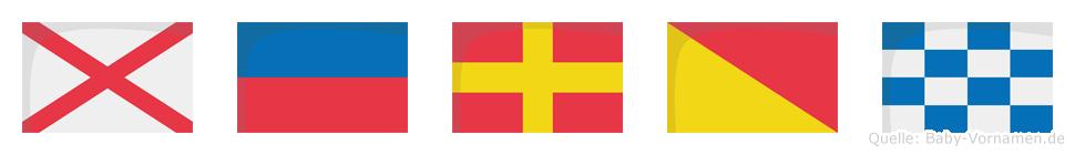 Veron im Flaggenalphabet