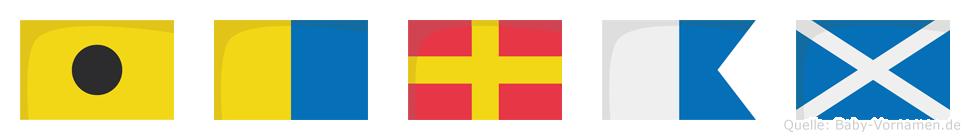 Ikram im Flaggenalphabet