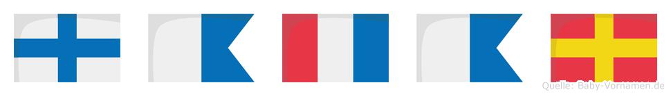 Xatar im Flaggenalphabet
