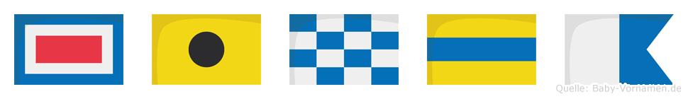 Winda im Flaggenalphabet