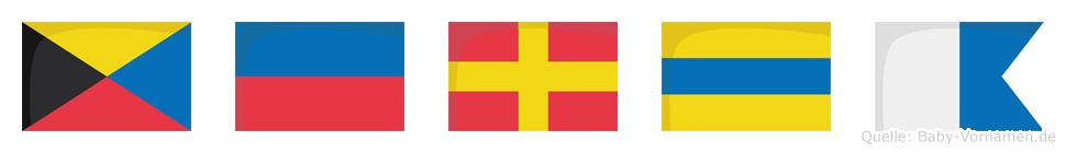 Zerda im Flaggenalphabet