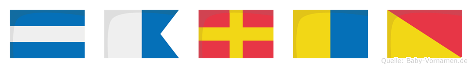 Jarko im Flaggenalphabet