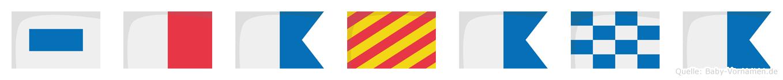 Shayana im Flaggenalphabet