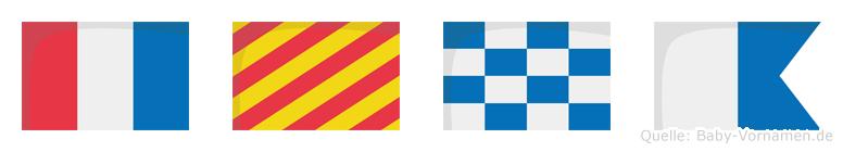 Tyna im Flaggenalphabet