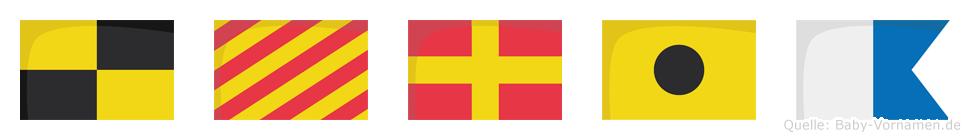 Lyria im Flaggenalphabet