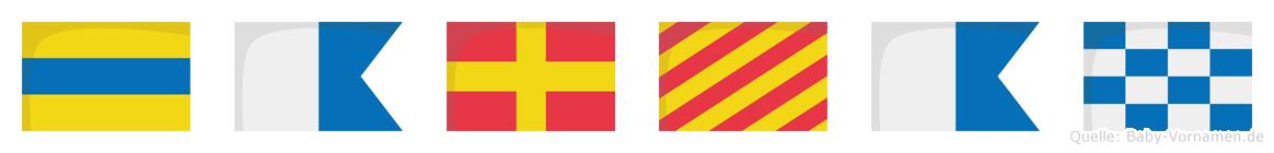 Daryan im Flaggenalphabet