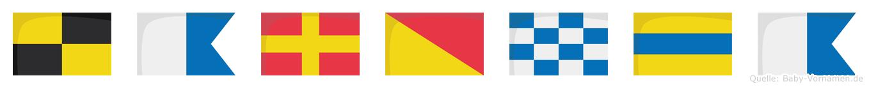 Laronda im Flaggenalphabet