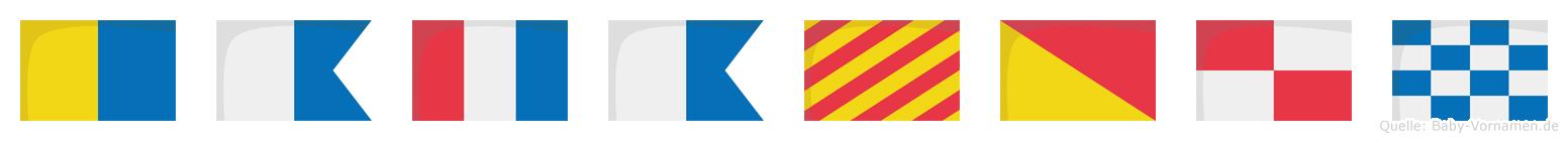 Katayoun im Flaggenalphabet