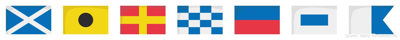 Mirnesa im Flaggenalphabet