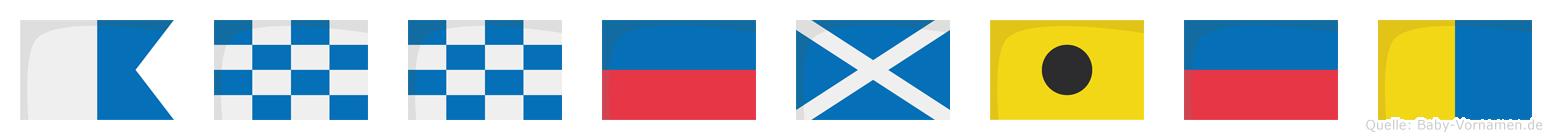 Annemiek im Flaggenalphabet