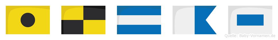 Iljas im Flaggenalphabet