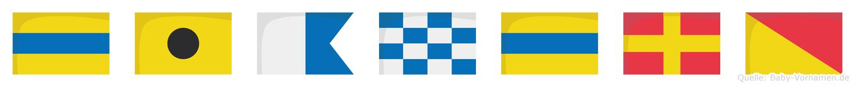 Diandro im Flaggenalphabet