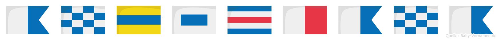 Andschana im Flaggenalphabet