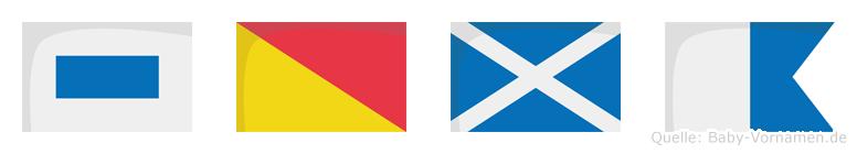 Soma im Flaggenalphabet