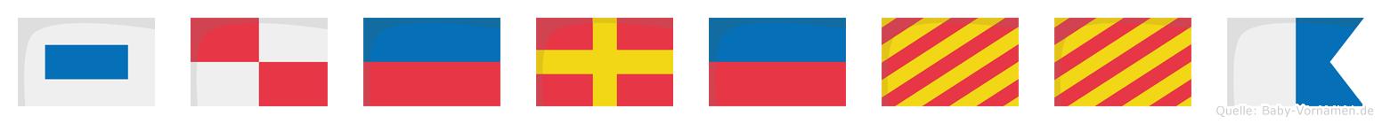 Süreyya im Flaggenalphabet