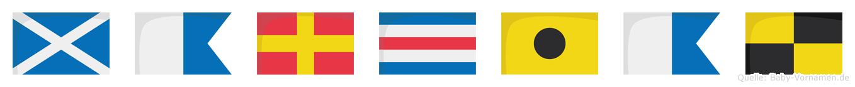 Marcial im Flaggenalphabet