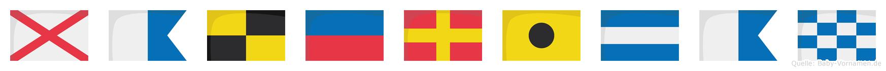 Valerijan im Flaggenalphabet