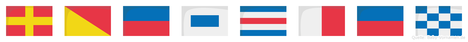 Röschen im Flaggenalphabet