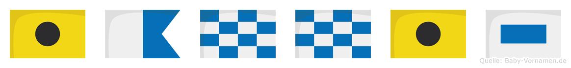 Iannis im Flaggenalphabet