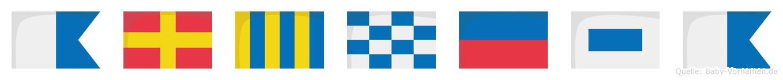 Argnesa im Flaggenalphabet