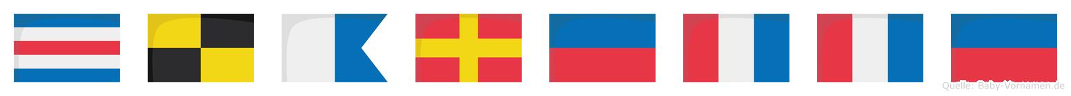 Clarette im Flaggenalphabet